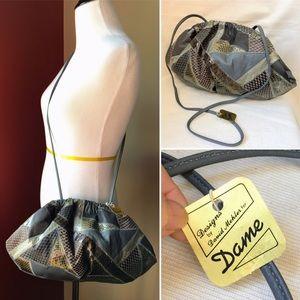 NWT Vintage snakeskin David Mehler for Dame purse